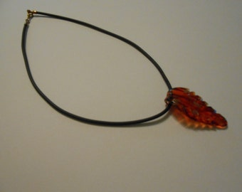 Rust Colored Glass Necklace