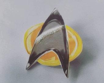 Handmade Star trek badge! For any trekkies, si-fi lovers, cool badge wearers or as fancy dress!