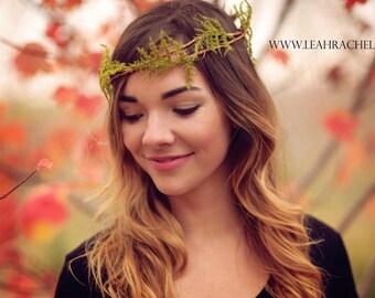 Head Wreath Crown, Halo, Bridal Crown, Boho Wedding Hair, Hair Wreath, Bridal Headpiece, Woodland Wedding Hair, Beach Wedding Hair Boho Hair