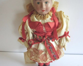 Vintage Doll Handmade Clothes from Czechoslovakia