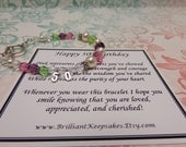 50th Birthday Gift Bracelet Keepsake