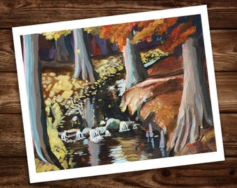 Mountain Creek Painting Art Print