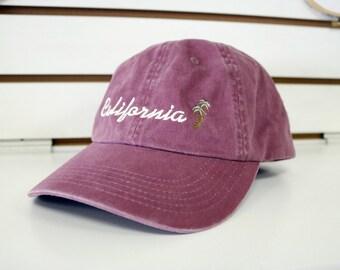 California Palm Tree Dad Hat