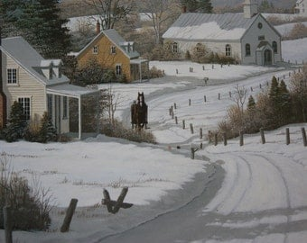 """Bill Saunders Signed and Matted """"Coming Home"""" Print"""