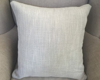 Charcoal Square Cushion/Pillow Cover in Romo Linara Upholstery Fabric