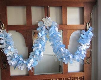 Baby Boy Blue Birthday Banner Highchair Decoration Baptism Decor Gender Reveal