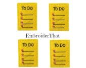 UNCUT To Do List felt applique embellishments paper clip topper felties (4)