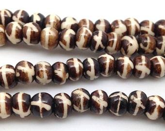 20 Vintage Bone Beads