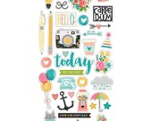 Simple Stories - Carpe Diem - 6x12 Chipboard Shapes - 35 pieces - 6628