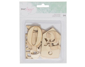 Dear Lizzy - Saturday Collection - Wood Veneers - 14 pieces - 376275