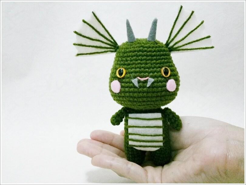 Green Dragon Amigurumi Pattern : Dragon amigurumi crochet