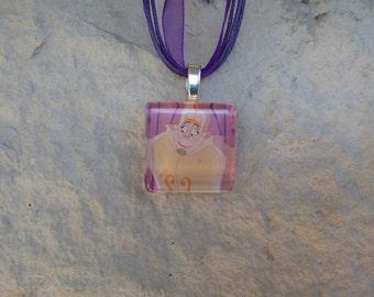 Disney Animals Madame de La Grande Bouche Glass Pendant and Ribbon Necklace