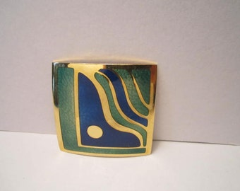 dePassille Sylvestre Early Enamel Brooch