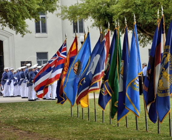 The Corp and Flags at the Citadel in Charleston SC
