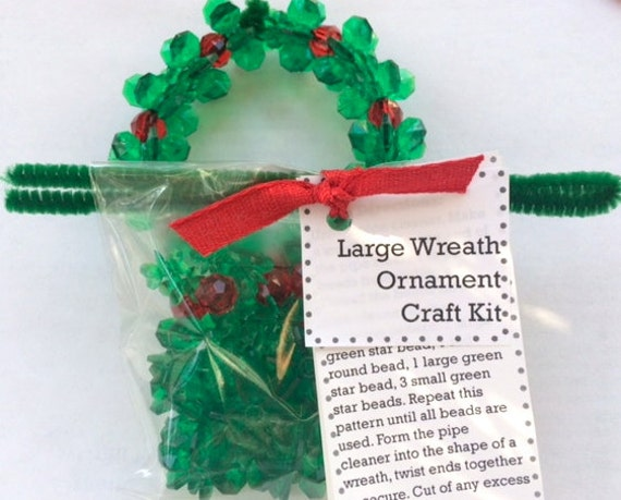 Decorating Ideas > Christmas Craft Kit DIY Wreath Ornament ~ 074301_Christmas Decoration Craft Kits