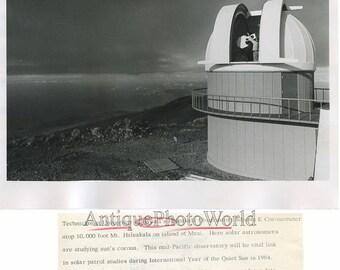 Hawaii Haleakala Observatory vintage photo J. Brennies