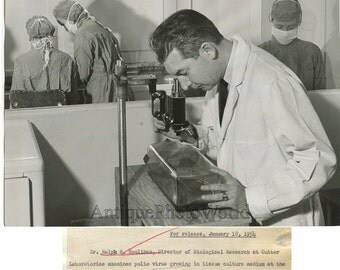 Berkley polio research R Houlihan microscope photo CA