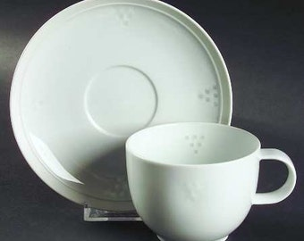 Vintage Dansk International Designs Statement Pattern Cup and Saucer -  Discontinued in 1992 MINT CONDITION