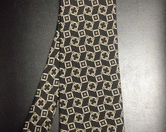 Vintage Christian Dior Monsieur Black Preppy Necktie