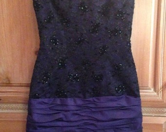 Victor Costa Sequined Party Dress