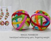 MAGIC RAINBOW – handdyed selfstriping sock yarn