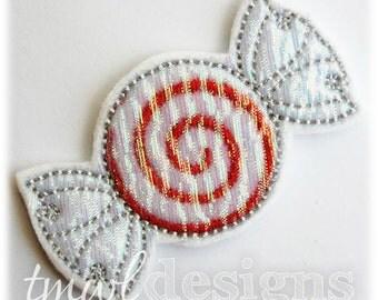 """Peppermint Swirl Candy Feltie Digital Design File - 1.75"""""""