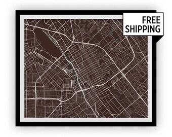 San Jose Map Print - Any Color You Like