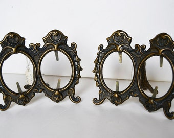 Two photo frames vintage brass