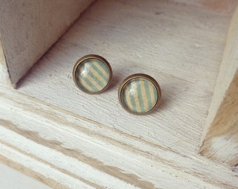 Brass stripe earrings
