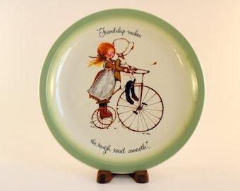 Vintage Holly Hobbie Plate/ 1972 Collectors Plate
