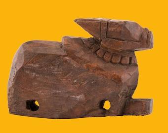 Antique Nandi Cow from teakwood