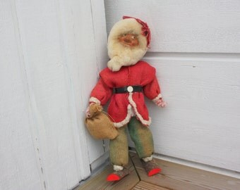 Old handmade Christmas figurine brownie/gnome from Sweden