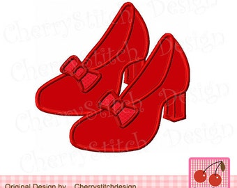 Dorothy Wizard Oz Slippers Machine Embroidery Applique Design BG0006 - 4x4 5x5 6x6""