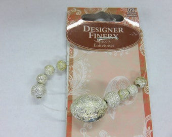 Beads - 5 Different Choices for Only Three Dollars Per Package - Silver, Glass, Brass Bead Packages