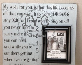My wish for you picture frame sign