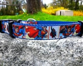 Flying Man Of Steel 1 Inch Width Dog Collar