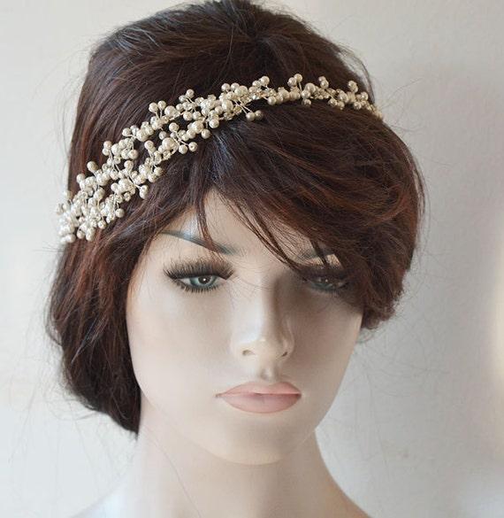 Pearl Headband Wedding Hair Accessories Bridal Headpiece
