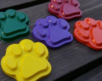 Paw print crayons set of 50 - party favors