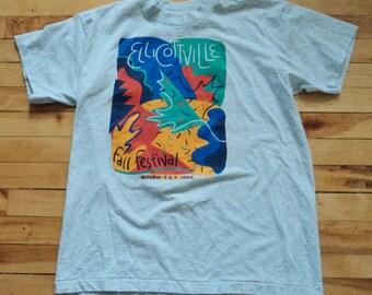 Vintage Ellicottville 1994 Fall Festival Large T Shirt VTG