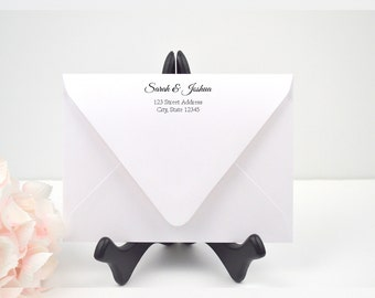 Envelope Addressing, Calligraphy, Return Addressing, Guest Addressing, Script, Elegant, Invitation, STYLE #110