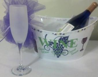 Wine, Ice Bucket, Wine Lover Gift, Custom Ice Bucket
