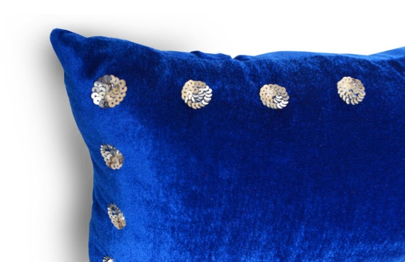 Royal Velvet Decorative Pillows : Blue Velvet Pillow Cover Royal Blue Velvet Pillow blue