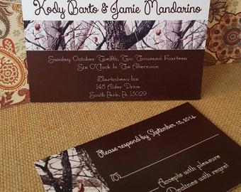 Snow Camo Wedding Invitation - PRINTABLE