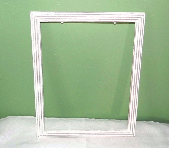 white plastic picture frame 8 x 10 by streetcrossingdesign
