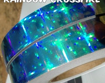"1"" Rainbow Crossfire Metallic Hula Hoop Tape"