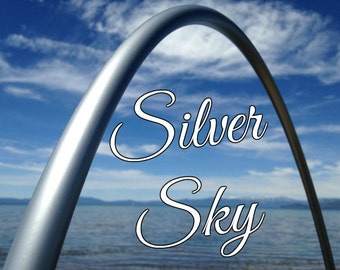 "Silver Sky Colored 3/4"" or 5/8"" PolyPro Hula Hoop - You pick the size - by Colorado Hula Hoops"