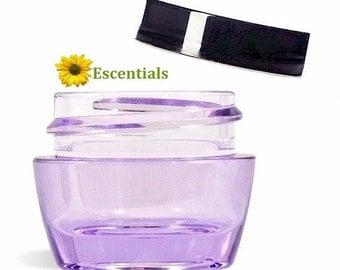 Purple Lip Balm Jar with Black Smooth Cap - 10 Pack