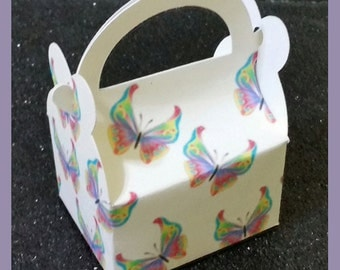 butterfly favor box, butterfly treat box, garden favor box, butterfly gift box