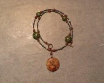 Bronze & Green Necklace