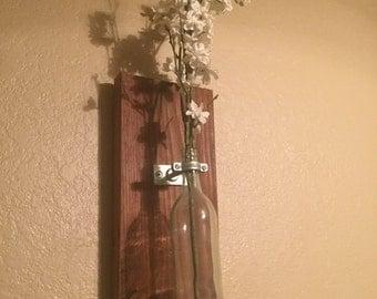 Wine bottle wine vase